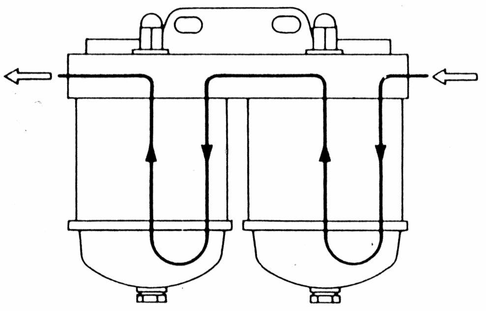 sistem pararel pada sistem pararel kedua saringan terbuat dari