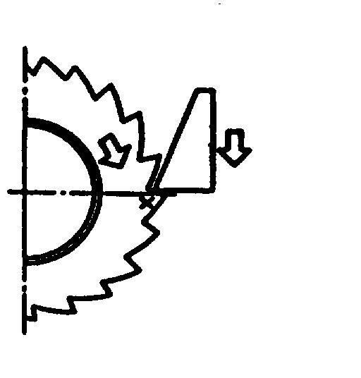 Saat melepas rem tangan plat penyetel memutarkan roda gigi penyetel